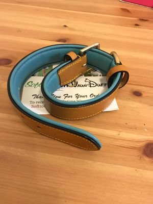 Premium Leather Dog Collar tan/teal for Sale in Woodbridge, VA