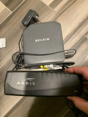 Belkin and Arris Wireless Router and Modem combo for Sale in Diamond Bar, CA