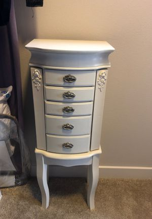 Antique White Jewelry Armoire for Sale in Denver, CO