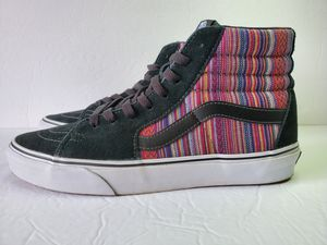 VANS Sk8 Hi (Guate Weave) Black/Multi Stripes Mens Skate Shoes Size 8.5 for Sale in Los Angeles, CA