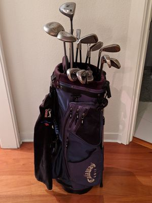 Callaway men's right golf clubs set with bag for Sale in San Francisco, CA
