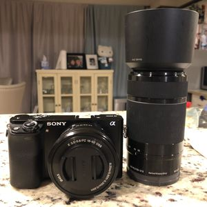Sony a6000 Mirrorless Camera with 2 Lenses for Sale in Garland, TX