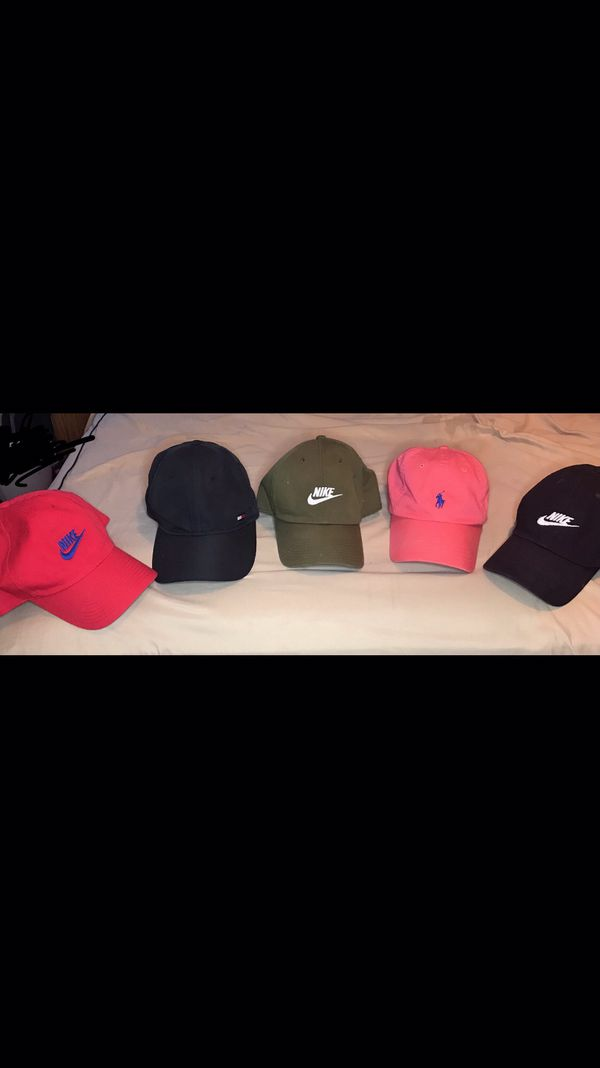 Nike Headbands and Nike, Tommy H, and Polo hats.