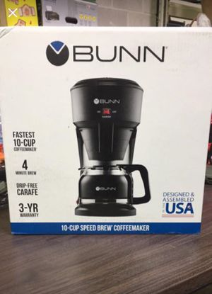 BUNN 10 CUP SPEED BREW COFFEE MAKER for Sale in Halethorpe, MD