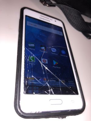 Samsung Galaxy Grand Prime (white 16gb) Cricket Phone but can unlock carrier ... for Sale in Chandler, AZ