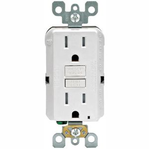Leviton 15 Amp 125-Volt Duplex SmarTest Self-Test SmartlockPro Tamper Resistant GFCI Outlet, White (4-Pack) for Sale in Dallas, TX