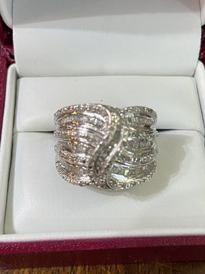 Diamond and Silver Ring for Sale in Woodstock, GA