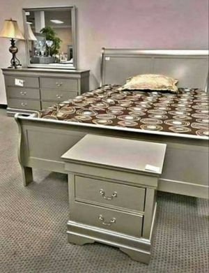 SAME DAY DELIVERY 🚩Louis Champagne {Queen,King, Full,Twin} Bedroom Set 🚩 Bed, Dresser, Mirror, Nightstand Included for Sale in Houston, TX