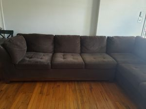 Brown Microfiber sectional couch. for Sale in Philadelphia, PA
