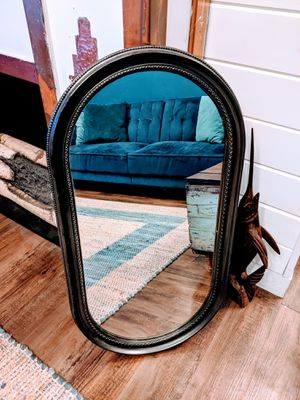 Vintage Mid Century Wall Mirror 18x32 Black/Grey Frame and Nice Glass for Sale in Cheswick, PA