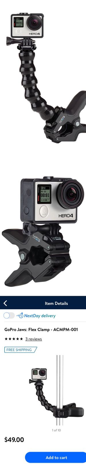 GoPro JAWS Flex Clamp (DOES NOT INCLUDE CAMERA) for Sale in Houston, TX
