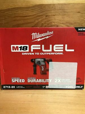 Milwaukee M18 FUEL 18-Volt Lithium-Ion Brushless Cordless 1 in. SDS-Plus Rotary Hammer (Tool-Only) for Sale in Stickney, IL