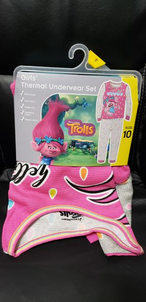 Trolls Girls Thermal Underwear Pajama Set Size 10 New for Sale in St. Cloud, FL