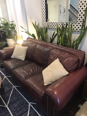 Large Leather Couch for Sale in Nashville, TN
