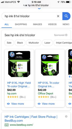 Hp ink cartridge for Sale in Superior, WI