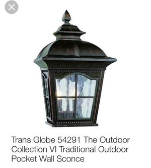 Trans Globe 54291 The Outdoor Collection VI Traditional Outdoor Wall lantern / Sconce 3 for $100 for Sale in Tempe, AZ