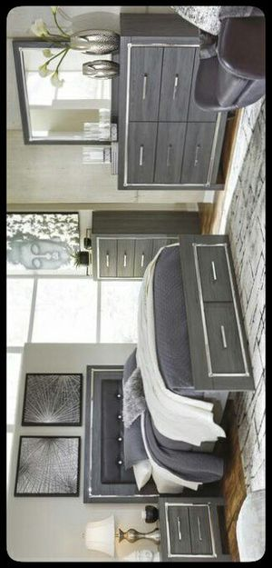 🆒Ashley🆒 Lodanna Gray LED Storage Bedroom Set for Sale in Mount Rainier, MD