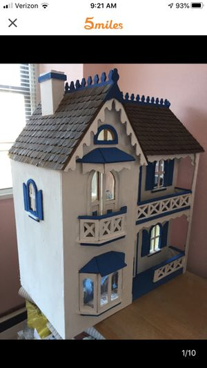 Handmade wooden dollhouse for Sale in White Plains, NY