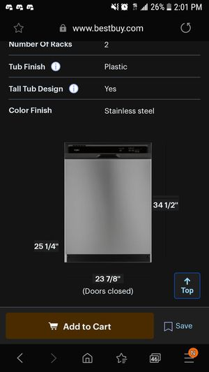 Whirlpool Stainless/black dishwasher for Sale in Tacoma, WA