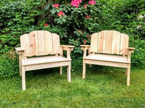 Pine Chairs - wooden chairs - outdoor furniture - unfinished - Set of Two for Sale in Monroe, WA