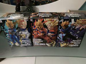 Absolute Perfection Figure Dragonball Z Goku Trunks Vegeta Banpresto for Sale in North Miami Beach, FL