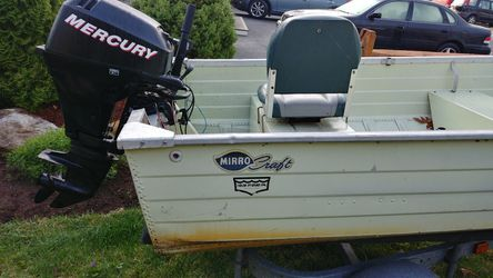 14'Mirrorcraft boat ,15 hp.merc.with shoreline trailer for Sale in Marlborough,  MA