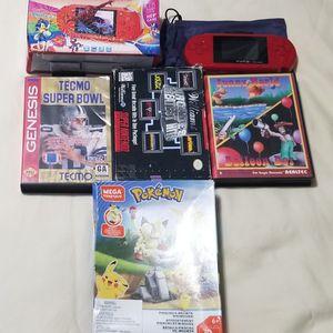 Portable Game Sistem Pokemon Puzzle Genesis Games Snes for Sale in Miami, FL