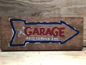 Handmade Garage auto repair sign for Sale in San Benito, TX