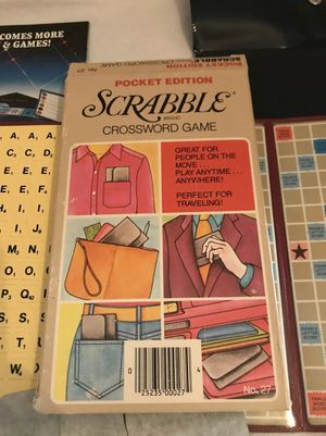 Scrabble Pocket Edition Crossword Board Game New Never Used Vintage 1978 for Sale in Avon Lake, OH
