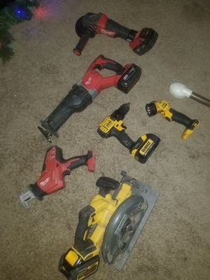 Milwaukee dewalt tools & battery's for Sale in Coarsegold, CA