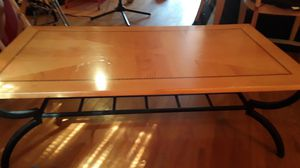 Light wooden and black metal coffee table for Sale in Brooklyn, NY