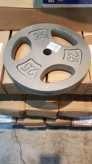 "New 1x25lb 1"" standard EZ grip plate. ( only 1) for Sale in Orange, CA"