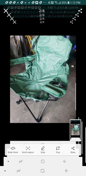 Like new Quest outdoor camping folding chair green for Sale in Downey, CA