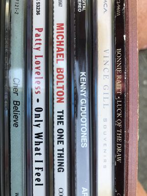 Assorted CD's. $5 Each. Michael Bolton; Cher; Rod Stewart; Bonnie Raitt; Vince Gill; Kenny G and more . Pick up in East Clayton for Sale in Clayton, NC