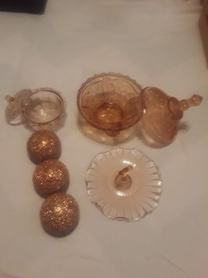 Rose glass & orbs for Sale in Tulare, CA