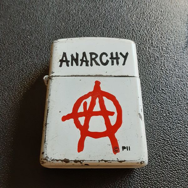 Vintage Anarchy Zippo from the 1990's