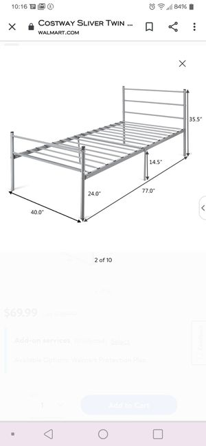 Two twin metal bed frames with twin mattress for Sale in Aurora, CO
