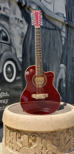 New 12 String Requinto Burgundy Cutaway Acoustic-Electric Thin Body Guitar for Sale in South Gate, CA