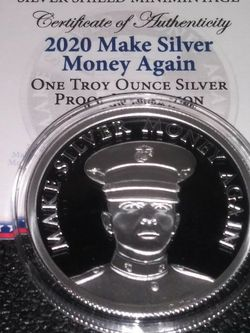 "2020 1oz Silver Shield .999 Fine Round. ""Make Silver Money Again"" for Sale in Philadelphia,  PA"