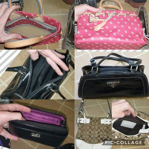 Large name brand purse lot coach dooney and bourke Prada for Sale in Jacksonville, FL