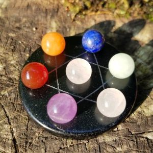 7 Chakra Star Array on Black Obsidian for Sale in Woodbridge, CT