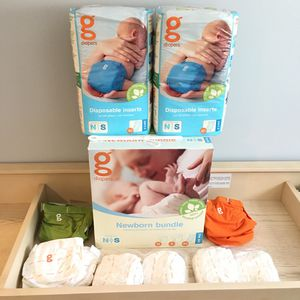 -NEW- Cloth Diaper Gdiaper covers & disposable inserts (newborn to infant!) GREAT GIFT for NEW MOM! for Sale in Feasterville-Trevose, PA