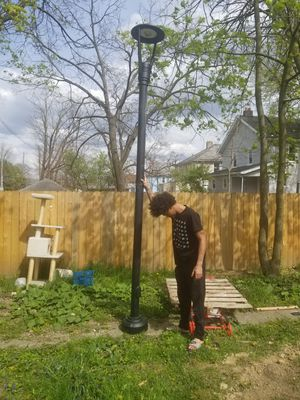1 12 ft aluminum lights and poles never installed for Sale in Obetz, OH