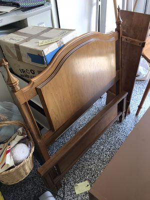 Solid maple Twin bed frame for Sale in Mather, CA