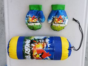 Angry Birds punching box and gloves for Sale in Santa Clara, CA