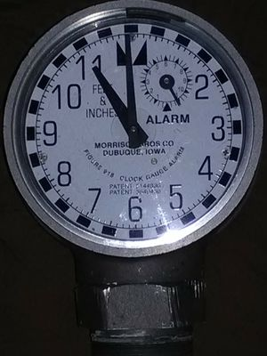 Morrison Bros clock gauge with alarm and float for Sale in Modesto, CA