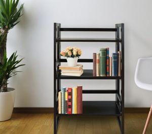 New!! Bookcase, bookshelves, organizer, storage unit , shelving display, living room furniture, folding bookcase, espresso for Sale in Phoenix, AZ