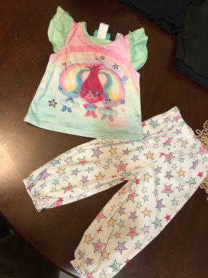 Trolls pajamas set size 2T for Sale in Chula Vista, CA