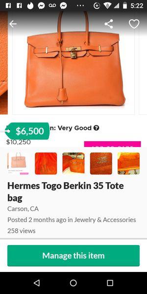 Authentic Hermes Togo birkin 35 tote bag for Sale in Carson, CA