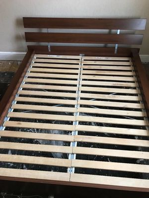 Queen size ikea hopen bed frame - Can Deliver for Sale in Dumfries, VA